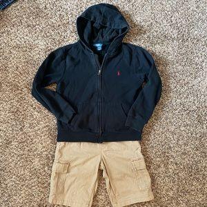 POLO by Ralph Lauren Boys Navy Sweatshirt Sz 10/12